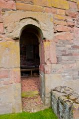 An ancient tower doorway