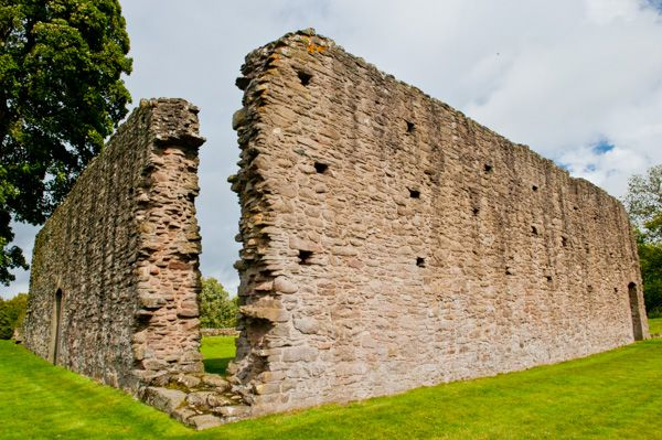 Restenneth Priory photo, South and west cloister range walls