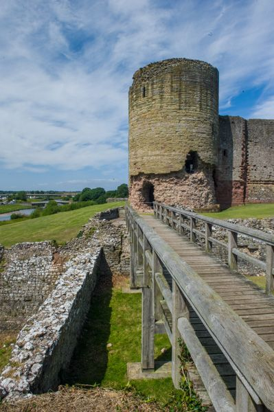Rhuddlan Castle photo, Crossing the castle ditch