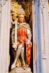 Statue of Henry II on the choir screen