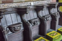 15th century misericords in the chancel