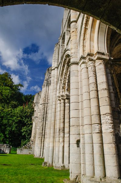 Roche Abbey photo, Clustered columns