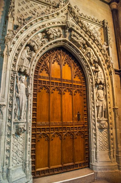 Rochester Cathedral photo, South choir transept door, 1340