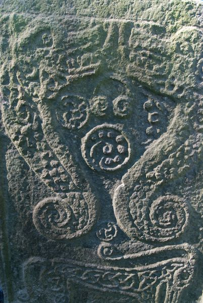 Rodney's Stone photo, Sea serpent carving