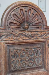 Jacobean carved bench end