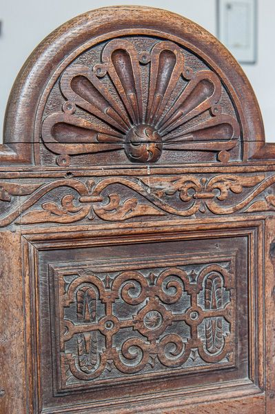 Rollestone, St Andrew's Church photo, Jacobean carved bench end