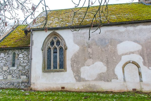Rollestone, St Andrew's Church photo, Blocked north doorway, church exterior