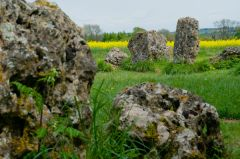 Rollright Stones, Looking across the circle