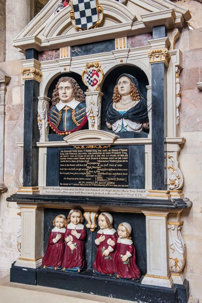 Romsey Abbey photo, St Barbe monument