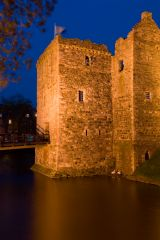 Rothesay Castle, The gatehouse at night