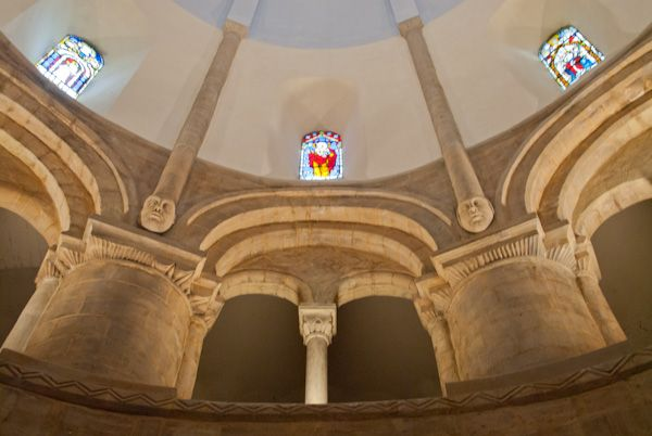 Round Church, Cambridge photo, Clerestory arches