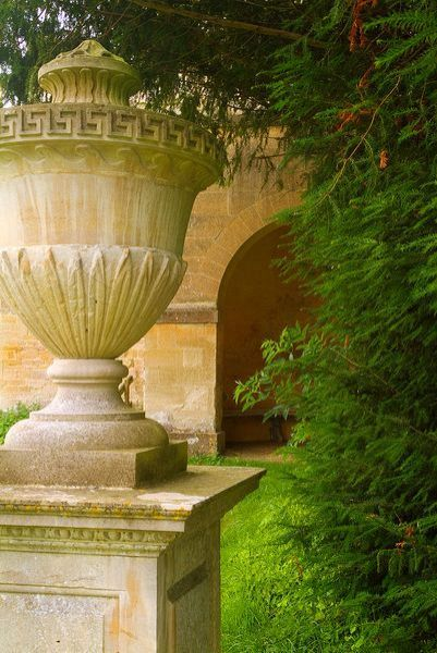 Rousham House and Garden photo, A neo-classical garden urn