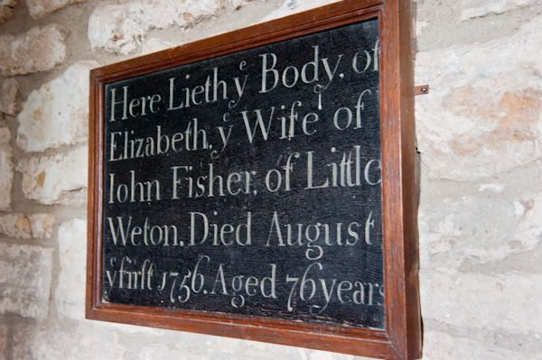 Rowley, St Peter's Church photo, Elizabeth Fisher memorial