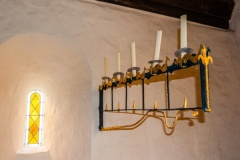 Candle holder, north chancel wall