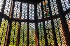A Tudor oriel window