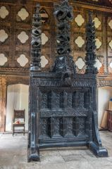 Carved screen in the medieval Hall