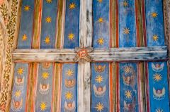 The chapel painted ceiling
