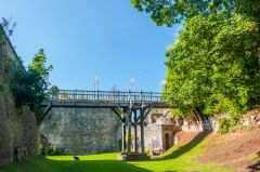 Ruthin Castle, Inside the dry moat
