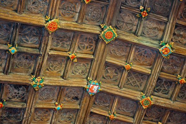 Ruthin, St Peter's Church photo, More painted roof bosses