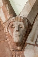 Carved head, nave arcade