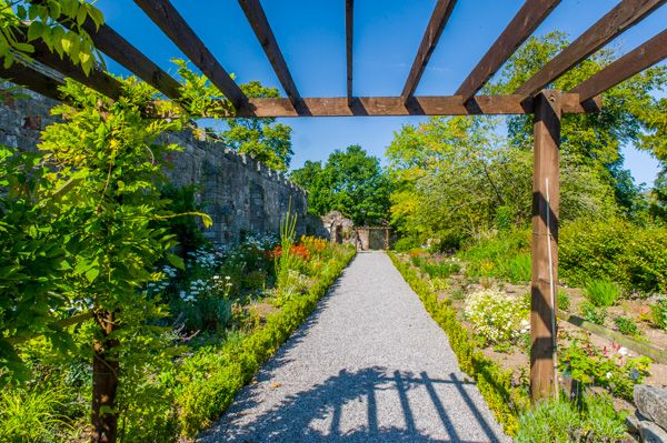 Ruthin Castle photo, A trellis in the gardens