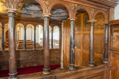 Pew arcading from the chancel