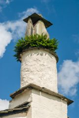The rustic chimney of Rydal Mount