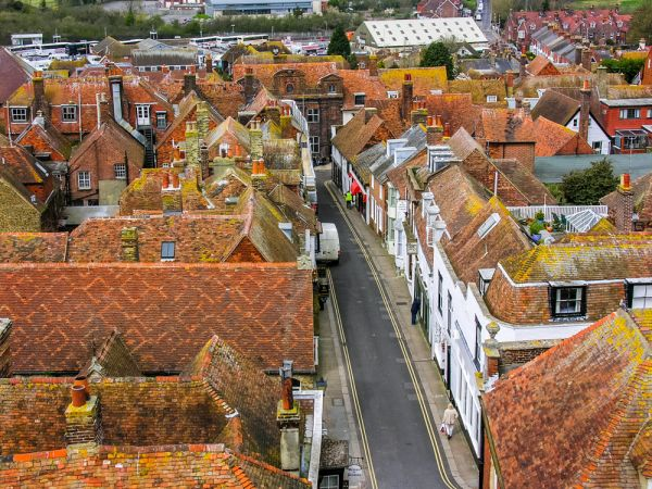 Rye Castle Museum photo, The rooftops of Rye from Ypres Tower