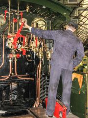 Steam - Museum of the Great Western Railway, The engineer at work