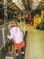 Steam - Museum of the Great Western Railway, Setting the points - an engineer in training?