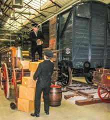 Steam - Museum of the Great Western Railway, A tableau of workers loading a goods wagon