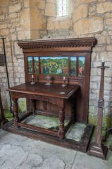 Communion table and medieval mensa