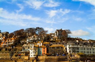 The town of Salcombe from the harbour