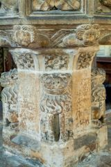 Salthouse, St Nicholas Church, Lion figures on the font