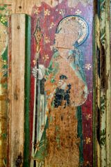 Salthouse, St Nicholas Church, Painted panel from the screen