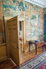 Chinese wallpaper, upstairs bedroom