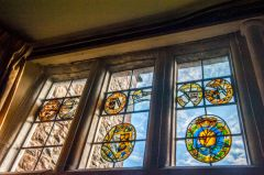 Sand, Armorial glass in the parlour