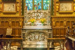 Sandringham, The ornate altar of St Mary Magdalene church