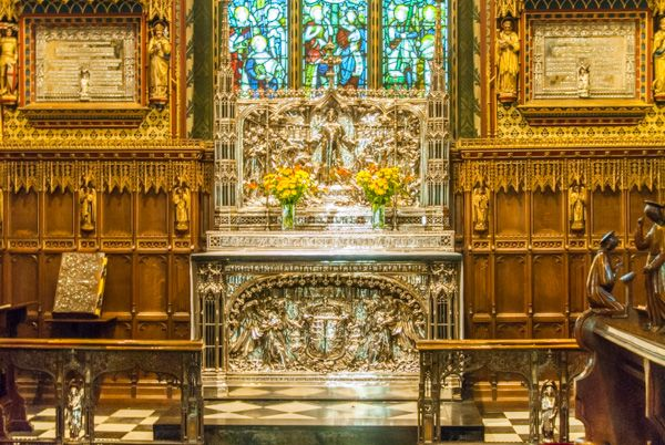 Sandringham photo, The ornate altar of St Mary Magdalene church