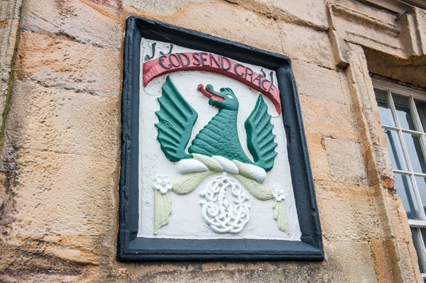 Sanquhar Tolbooth Museum photo, Coat of arms on the Tolbooth exterior