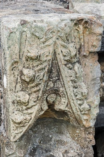 Sawley Abbey photo, Carved fragment of stone