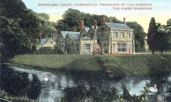 Scrivelsby, An old print of Scrivelsby Court (c) Horncastle Worthies