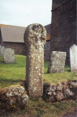 Celtic cross in the churchyard (c) Michael Murray