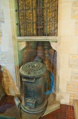 Sevenhampton, St Andrew's Church, Victorian stove heating system