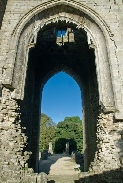 Shap Abbey photo, Abbey tower arch