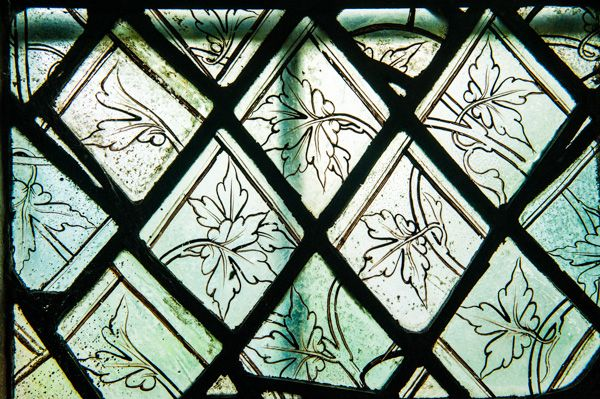 Shellingford, St Faith's Church photo, Medieval grissailles glass