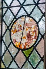 Sherrington, St Cosmas & St Damian Church, European painted glass roundel