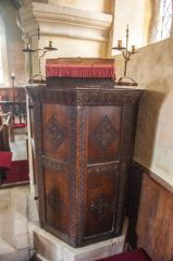 Sherrington, St Cosmas & St Damian Church, The Jacobean pulpit