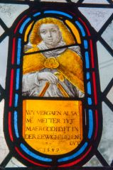 Sherrington, St Cosmas & St Damian Church, 1549 Dutch glass panel