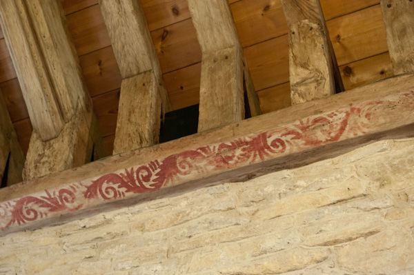 Shilton, Holy Rood Church photo, Painted roof timbers